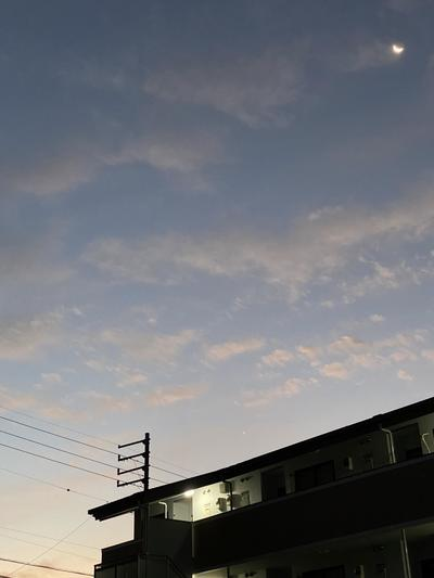 朝焼けと月.JPG